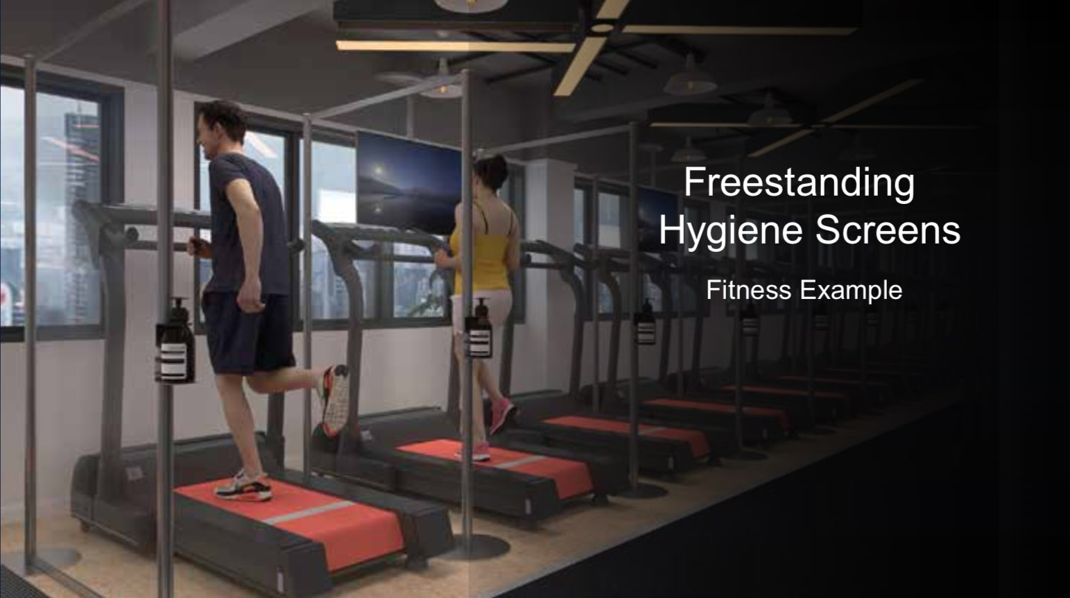 Free Standing Fitness Gym Protection Screen