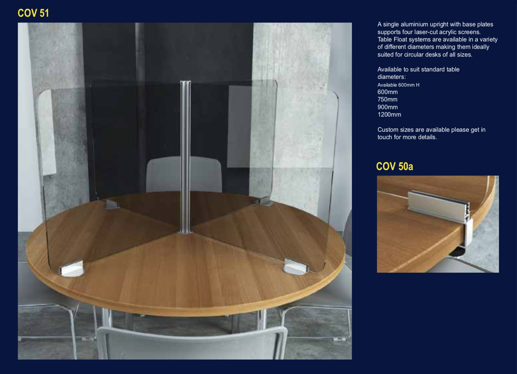 Table Protection Screens - No 51