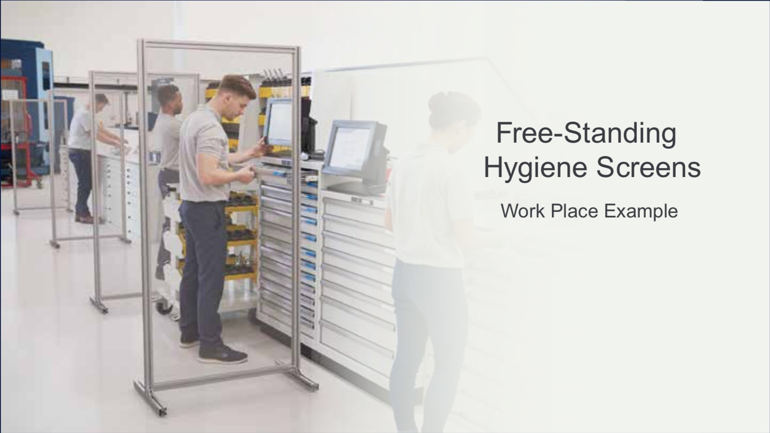 Free Standing Work Place Hygiene Protection Screen