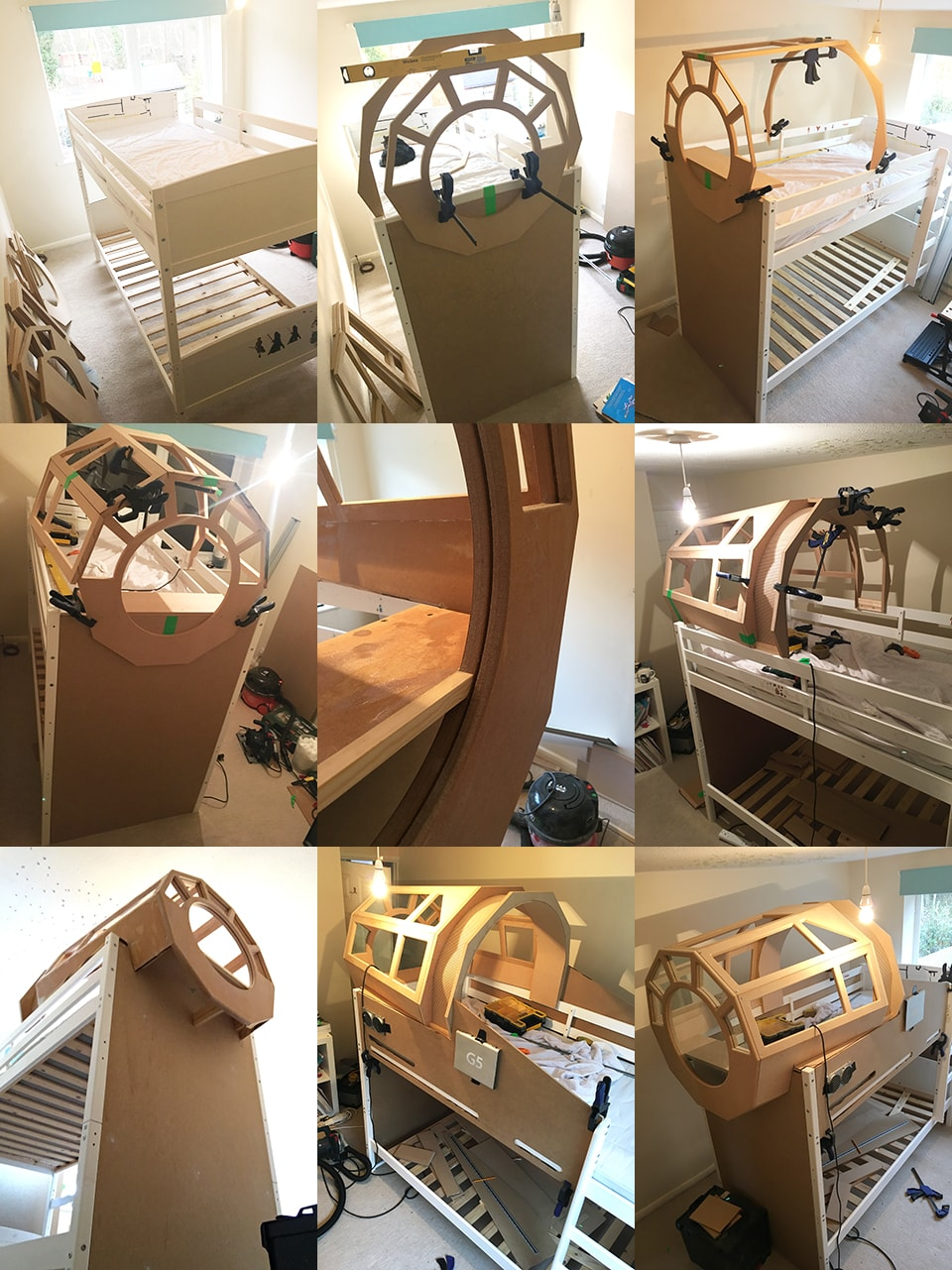 James Parry's Star Wars Bunk Bed Design - Construction Photos