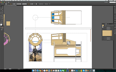 James Parry's Star Wars Bunk Bed Design - Working Drawings