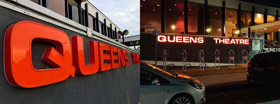 Queens Theatre Signage Manufacturer