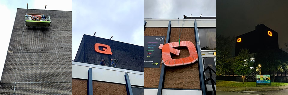 Signage Installation for Queens Theatre in Hornchurch